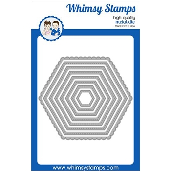 Whimsy Stamps NESTED HEXAGON Dies WSD445