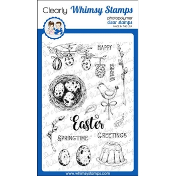 Whimsy Stamps EASTER MEMORIES Clear Stamps CWSD303
