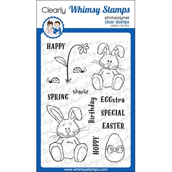 Whimsy Stamps HOPPY SPRING Clear Stamps CWSD301