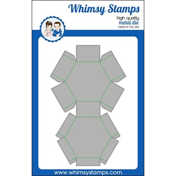 Whimsy Stamps HEXAGON TREAT BOX Die WSD446