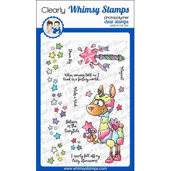 Whimsy Stamps FAIRY LLAMACORN Clear Stamps DP1041