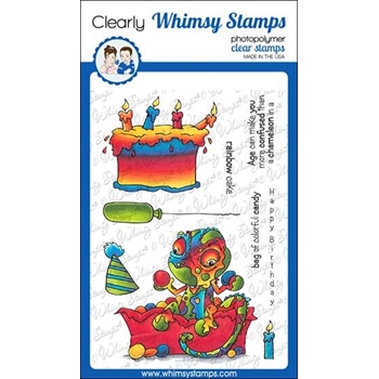 Whimsy Stamps CHAMELEON PARTY Clear Stamps DP1040