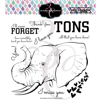 Colorado Craft Company Big and Bold LOVE YOU TONS Clear Stamps BB300
