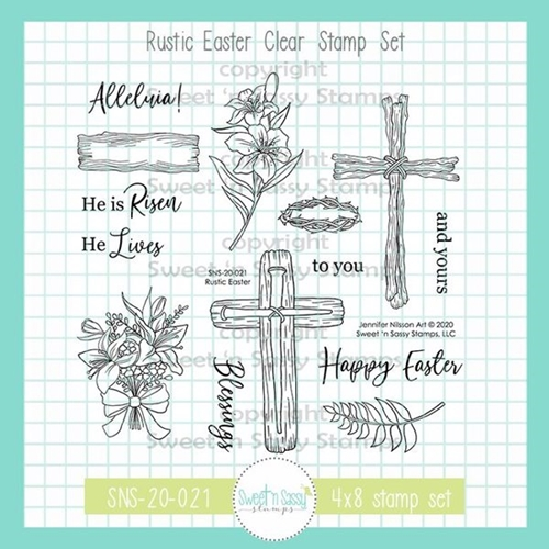 Sweet 'N Sassy RUSTIC EASTER Clear Stamp Set sns20021 Preview Image