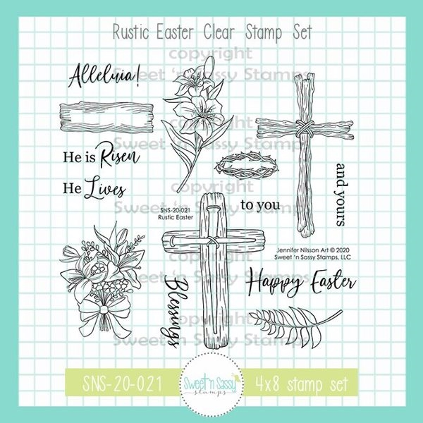 Sweet 'N Sassy RUSTIC EASTER Clear Stamp Set sns20021 zoom image