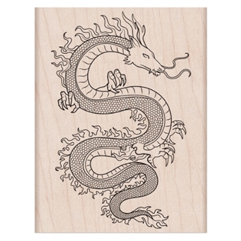 Hero Arts Rubber Stamp FLAME DRAGON K6430