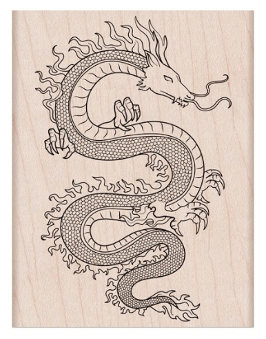 Hero Arts Rubber Stamp FLAME DRAGON K6430 zoom image