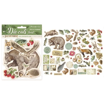 Stamperia FOREST Die Cuts dfldc02