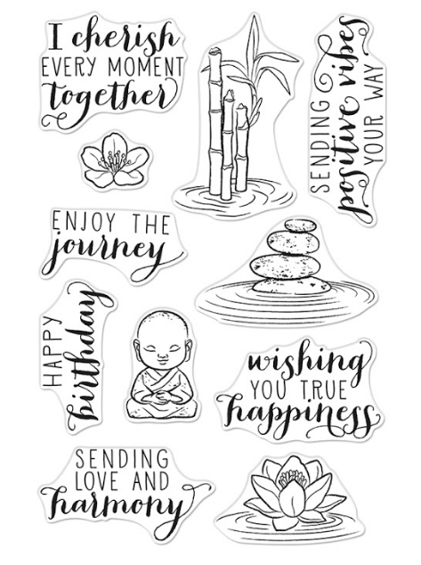Hero Arts Clear Stamps TRANQUILLITY CM442 zoom image