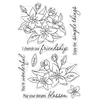 Hero Arts Clear Stamps DREAMS WILL BLOSSOM CM441