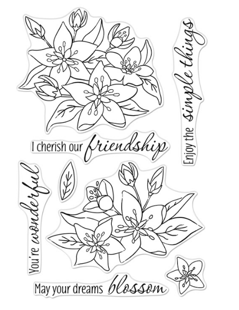Hero Arts Clear Stamps DREAMS WILL BLOSSOM CM441 zoom image