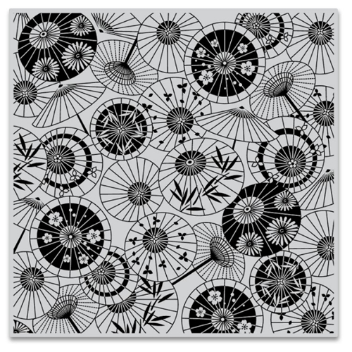 Hero Arts Cling Stamps PARASOL PATTERN Bold Prints CG808 Preview Image