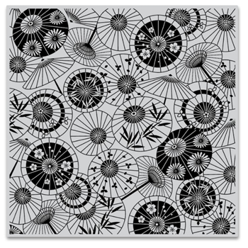 Hero Arts Cling Stamps PARASOL PATTERN Bold Prints CG808