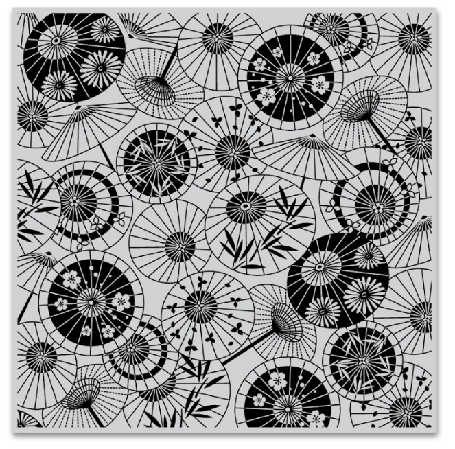 Hero Arts Cling Stamps PARASOL PATTERN Bold Prints CG808 zoom image