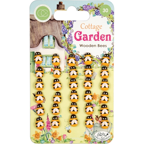 Craft Consortium Cottage Garden WOODEN BEES Embellishment CCWDNS007 Preview Image