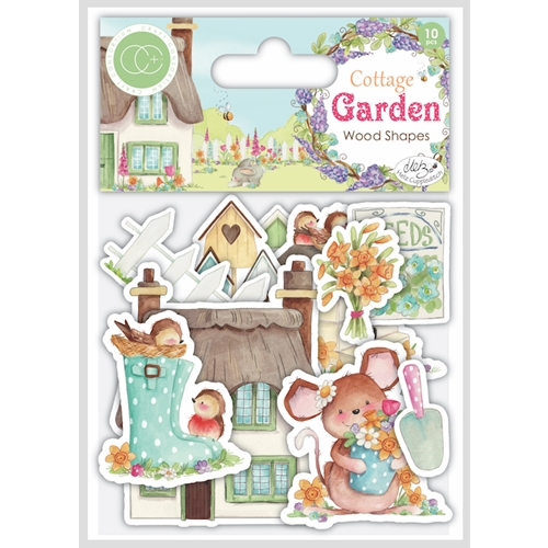 Craft Consortium Cottage Garden LASER CUT PRINTED WOOD SHAPES CCWDNS006 Preview Image
