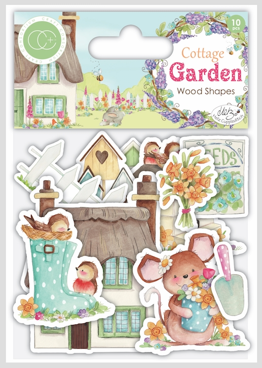 Craft Consortium Cottage Garden LASER CUT PRINTED WOOD SHAPES CCWDNS006 zoom image
