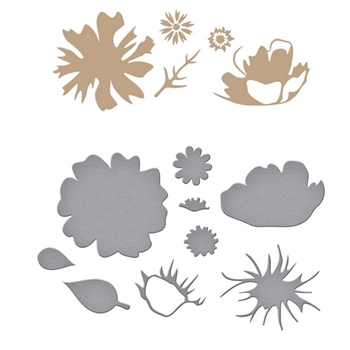 GLP 174 Spellbinders GLIMMERED BOTANICAL Glimmer Hot Foil Plate and Dies*