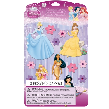 EK Success DISNEY PRINCESS DIMENSIONAL STICKERS 51-50055*