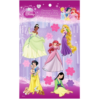 EK Success DISNEY PRINCESS DIMENSIONAL STICKERS Group 1 51-50054*