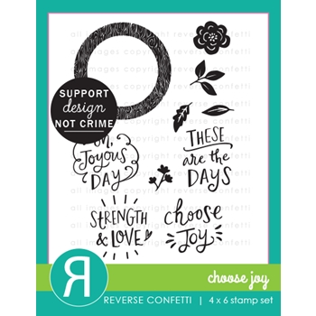 Reverse Confetti CHOOSE JOY Clear Stamps
