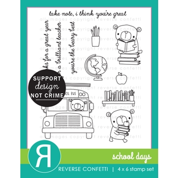 Reverse Confetti SCHOOL DAYS Clear Stamps