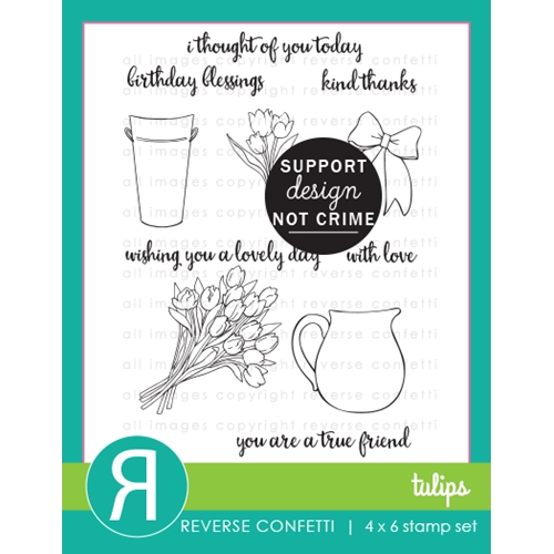 Reverse Confetti TULIPS Clear Stamps Preview Image