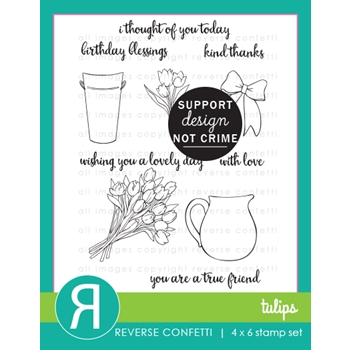 Reverse Confetti TULIPS Clear Stamps