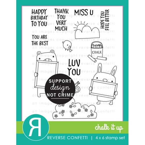 Reverse Confetti CHALK IT UP Clear Stamps Preview Image