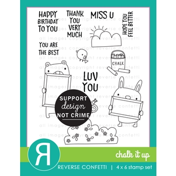 Reverse Confetti CHALK IT UP Clear Stamps