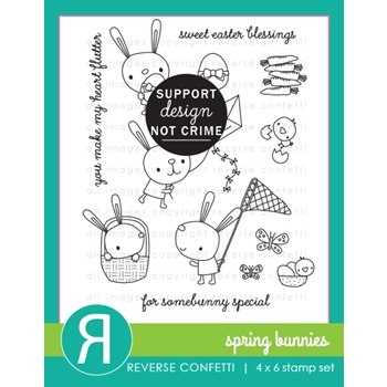 Reverse Confetti SPRING BUNNIES Clear Stamps