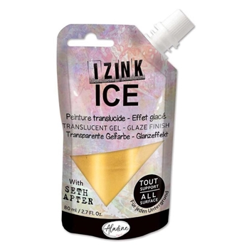 Aladine IZINK ICE COLD GOLD Glaze Finish 80383