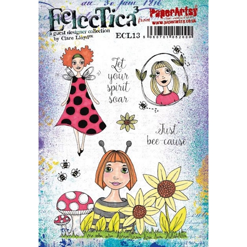 Paper Artsy ECLECTICA3 CLARE LLOYD 13 Cling Stamps ecl13 Preview Image