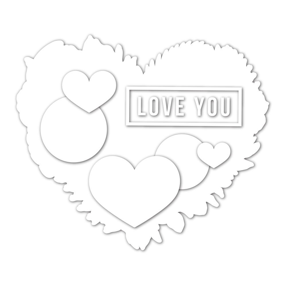 Simon Says Stamp BOTANICAL HEART Wafer Dies sssd112117c Lucky To Know You zoom image