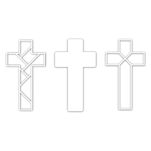 CZ Design Wafer Dies INLAID CROSS czd84 Lucky To Know You Preview Image