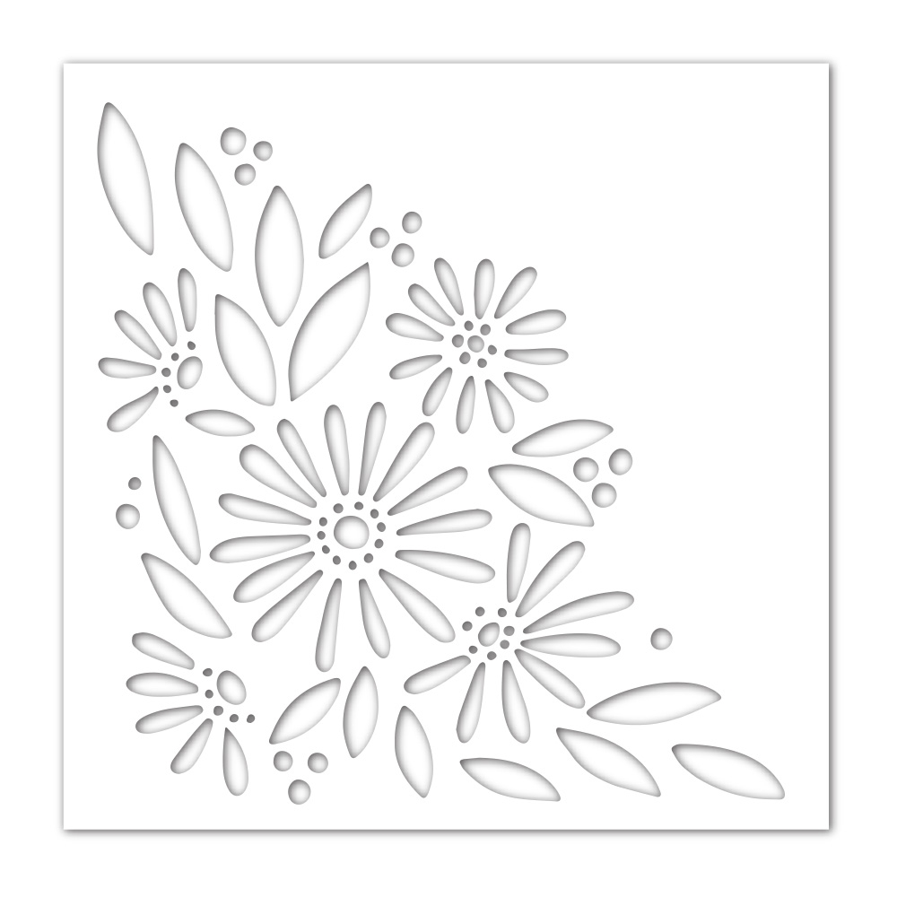 Simon Says Stamp Stencil DAISY BOUQUET ssst121470 Lucky To Know You zoom image