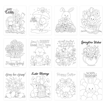 Simon Says Stamp Suzy's SPRING AND EASTER WISHES Watercolor Prints szwc20sew Lucky To Know You