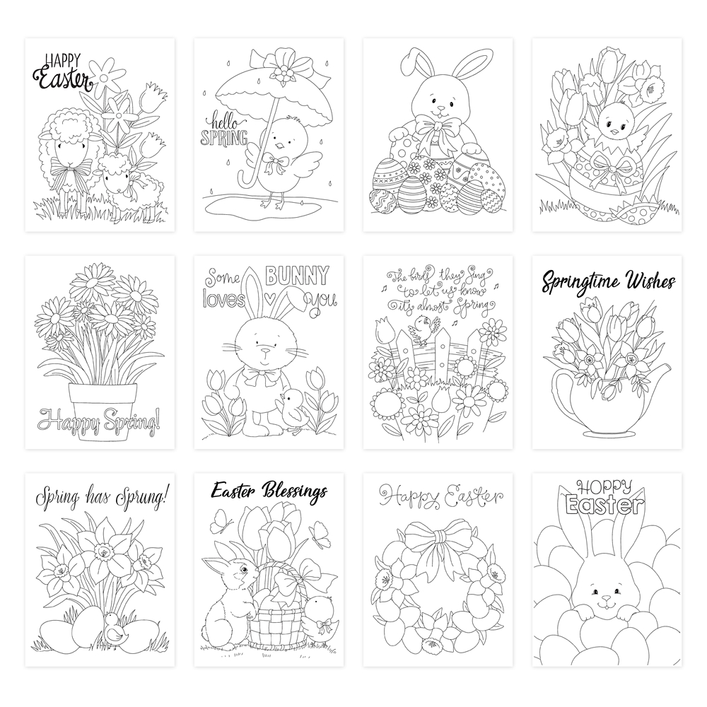 Simon Says Stamp Suzy's SPRING AND EASTER WISHES Watercolor Prints szwc20sew Lucky To Know You zoom image