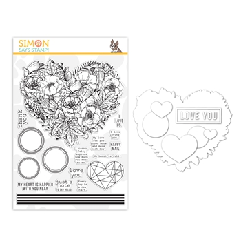 Simon Says Stamps And Dies BOTANICAL HEART set373bh Lucky To Know You