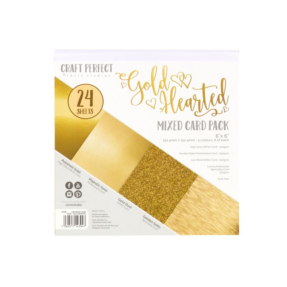 Tonic GOLD HEARTED 6 x 6 Mixed Card Pack 9394e zoom image