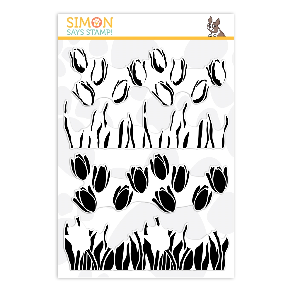 Simon Says Clear Stamps LAYERED TULIPS sss202121 Lucky To Know You zoom image
