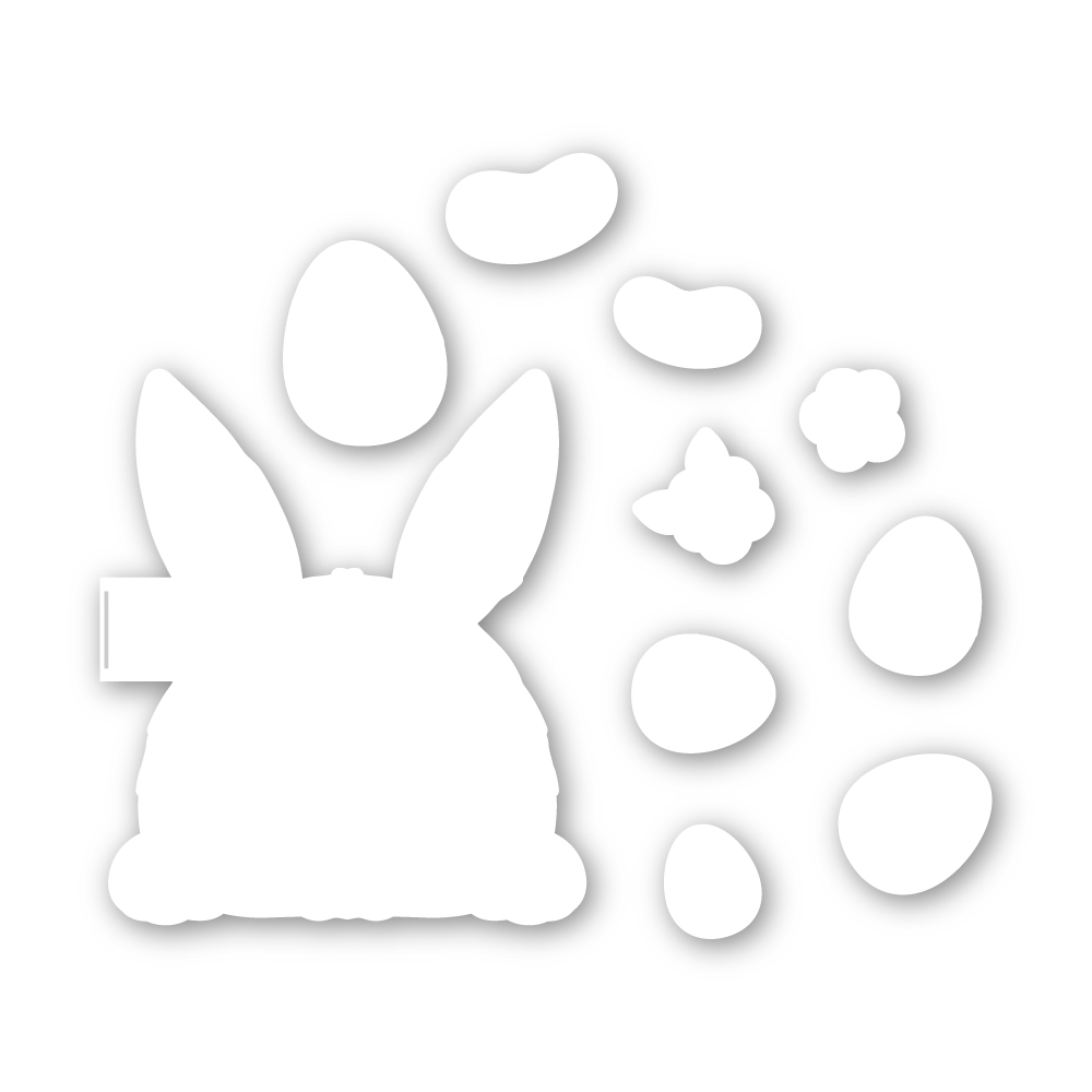 Simon Says Stamp BUNNY BUTT PEEK A BOO Wafer Dies sssd112120c Lucky To Know You zoom image