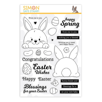 Simon Says Clear Stamps BUNNY BUTT PEEK A BOO sss202109 Lucky To Know You