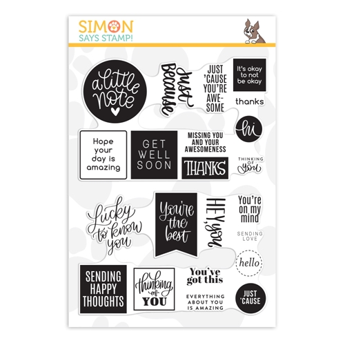 Simon Says Clear Stamps JUST BECAUSE WORD MIX 2 sss202098 Lucky To Know You Preview Image