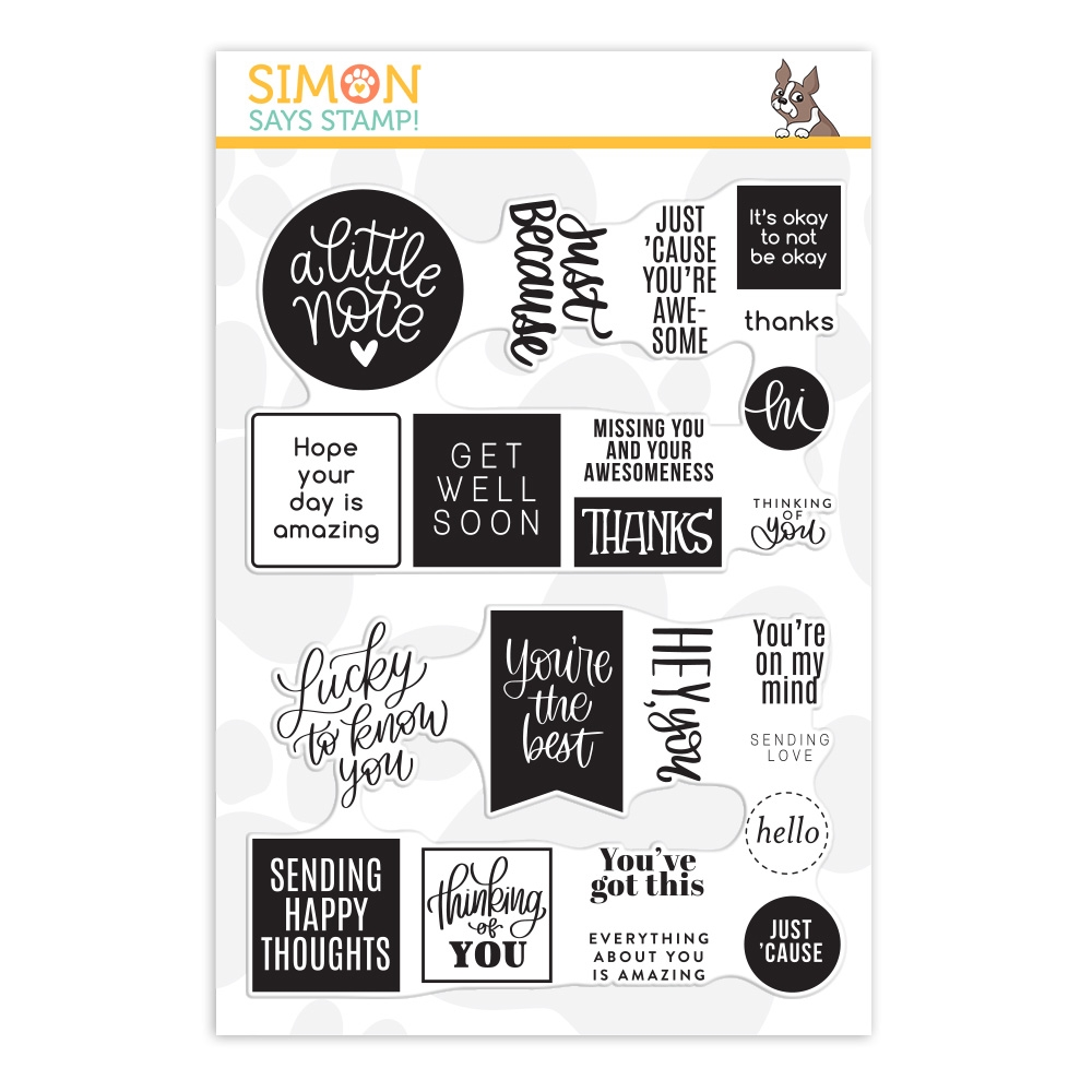 Simon Says Clear Stamps JUST BECAUSE WORD MIX 2 sss202098 Lucky To Know You zoom image