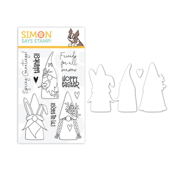 RESERVE Simon Says Stamps and Dies SPRING GNOMES set376sg Lucky To Know You