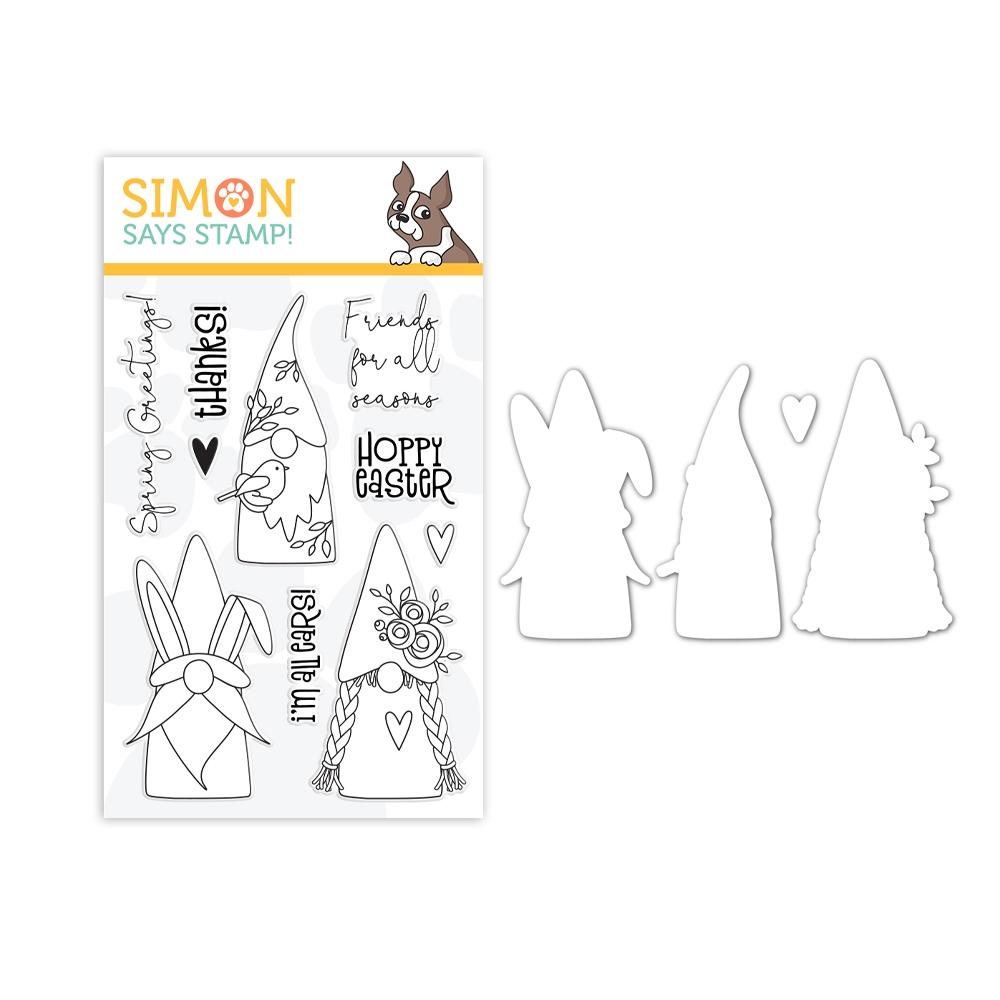 Simon Says Stamps and Dies SPRING GNOMES set376sg Lucky To Know You zoom image