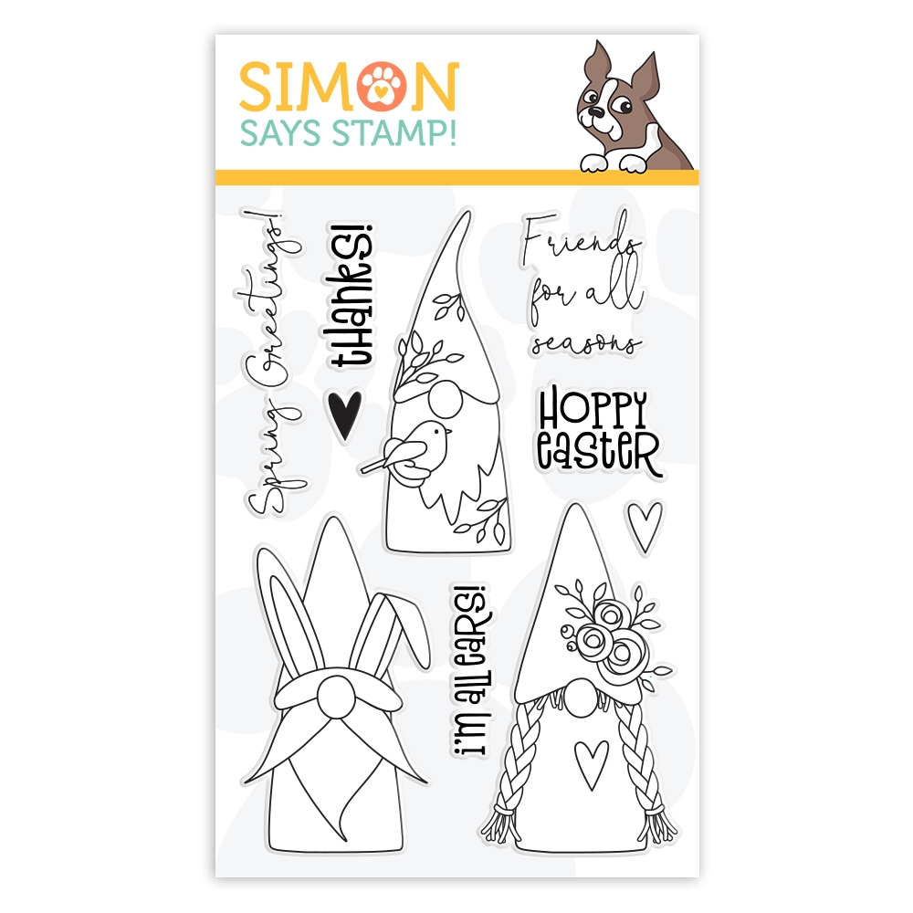 Simon Says Clear Stamps SPRING GNOMES sss102107 Lucky To Know You zoom image