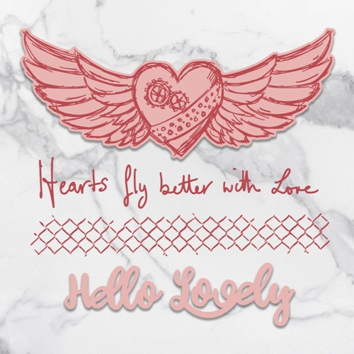 Couture Creations HEARTS FLY Stamp And Die Set co727715* Preview Image