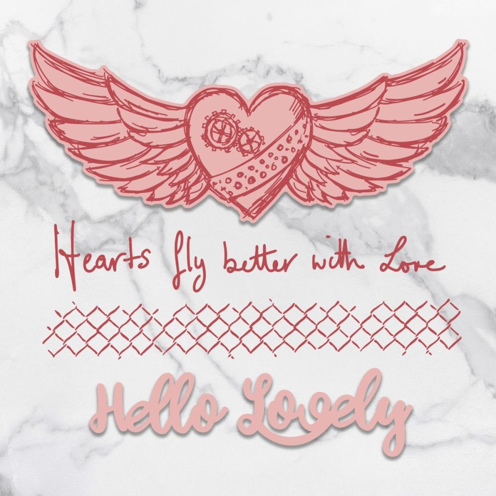 Couture Creations HEARTS FLY Stamp And Die Set co727715* zoom image